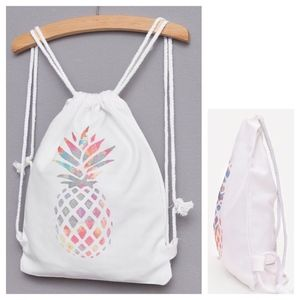 Bags - Pineapple Drawstring Backpack